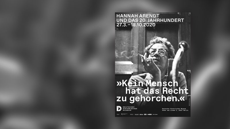 Hannah Arendt, Plakat, Antisemitismus, Museum, Ausstellung