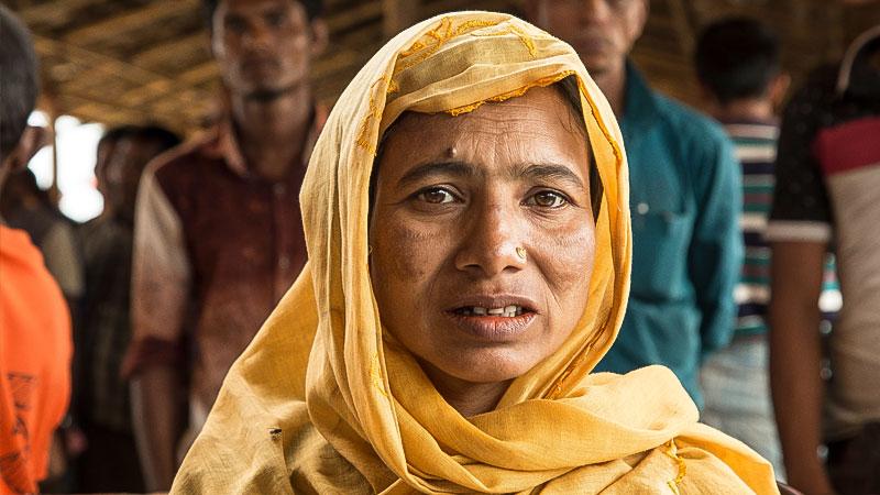 Rohingya, Flüchtling, Bangladesh, Armut, Hunger, Menschenrechte, Frau