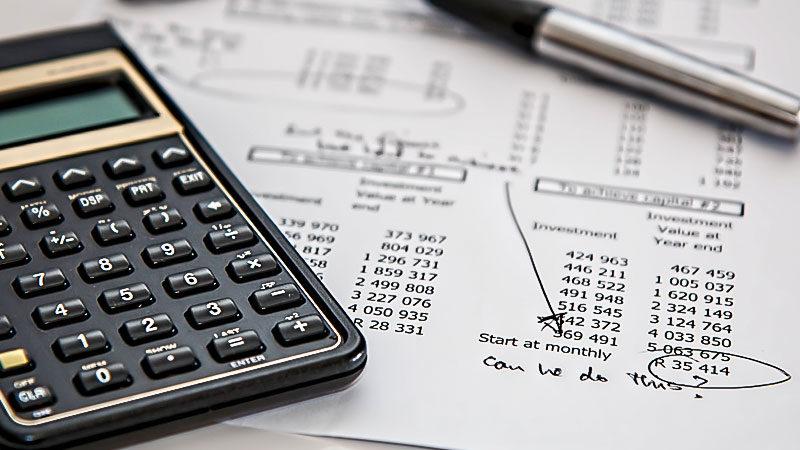 Taschenrechner, Buchhaltung,Finanzen, Steuern, Geld, Armut, Reichtum