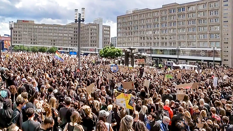 Demonstration, Protest, BlackLivesMatter, Menschen, Berlin, Rassismus