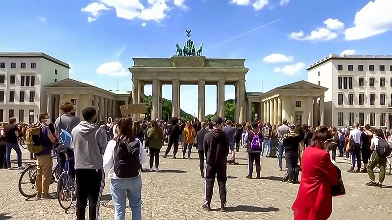 Rassismus, Demonstration, Berlin, Brandenburger Tor, Protest