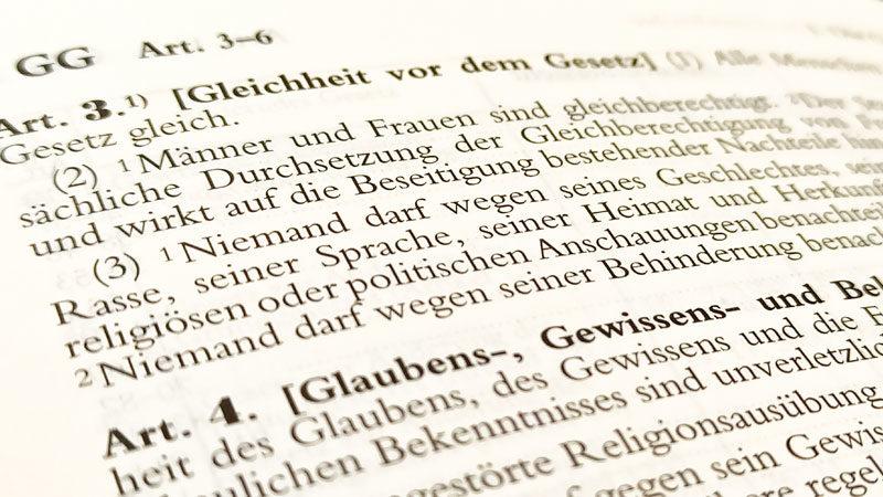 Grundgesetz, Gleichheit, Verfassung, Art. 3, Rasse, Diskriminierung