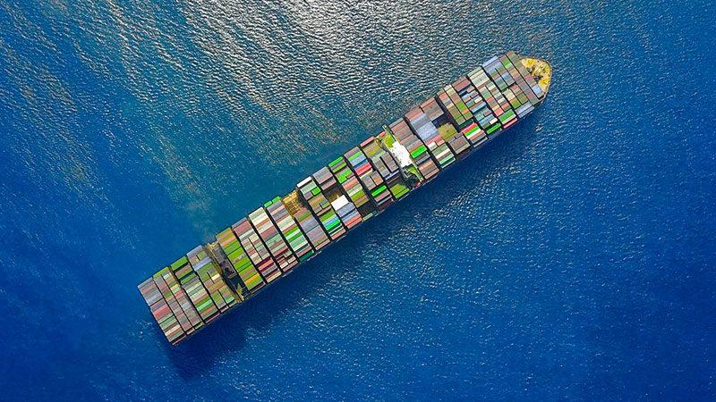 Handelsschiff, Containerschiff, Schiff, Container, Meer, Handel