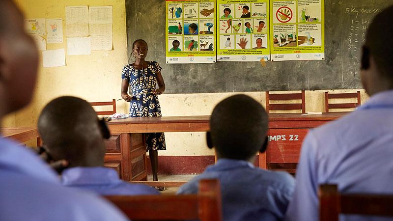 Schule, Bildung, Kinder, Afrika, Klasse, Lehrerin