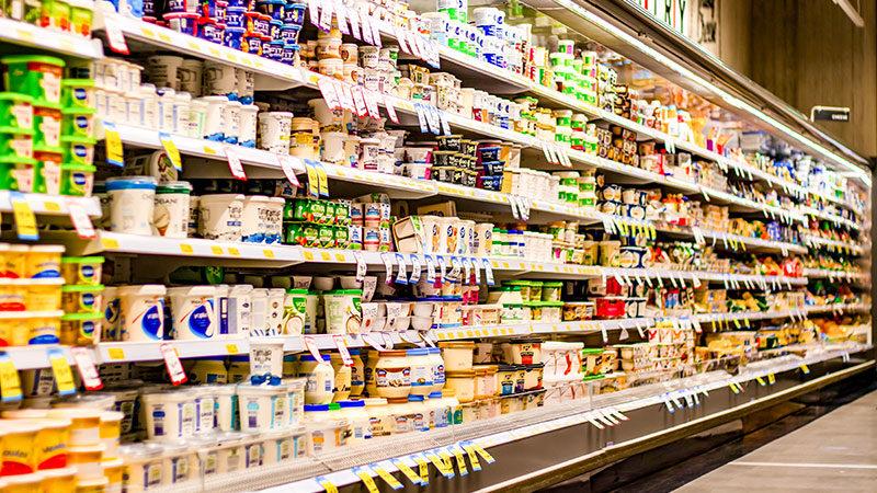Supermarkt, Lebensmittel, Regal, Konsum, Essen, Einkaufen