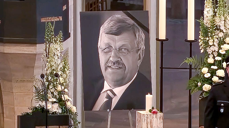 Walter Lübcke, Mord, Rassismus, Rechtsextremismus, Trauerfeier