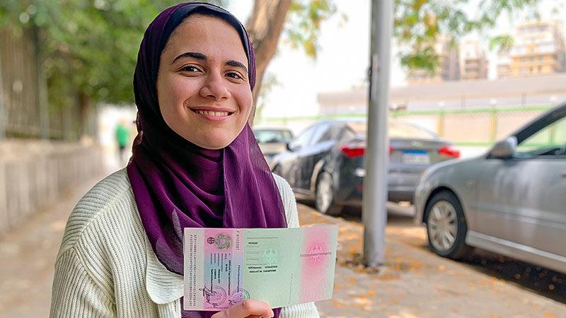 Engy Ashraf, Fiktionsbescheinigung, Studentin, Ausland, Ausländer, Aufenthaltstitel