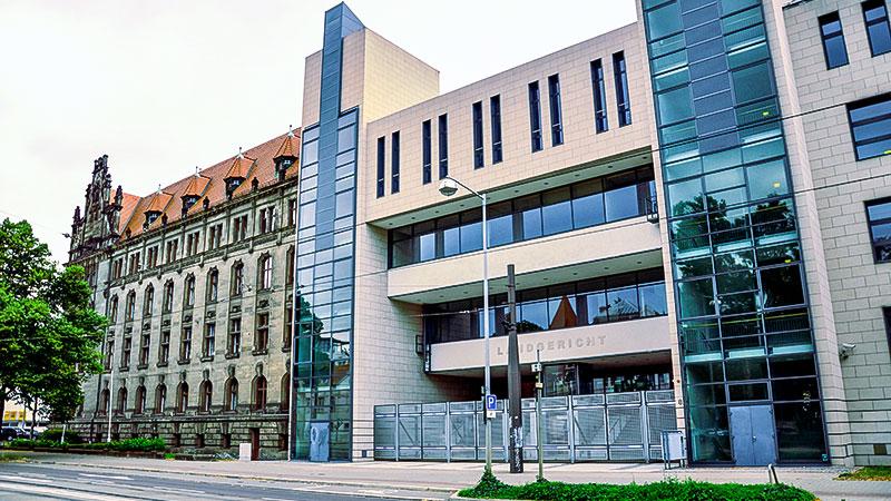 Landgericht, Magdeburg, Halle, Prozess, Justiz, Gericht, Gebäude