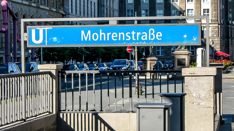 Mohrenstraße, Berlin, U-Bahn, Straße, Rassismus