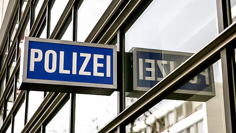 Polizei, Polizeiwache, Schild, Polizeischild
