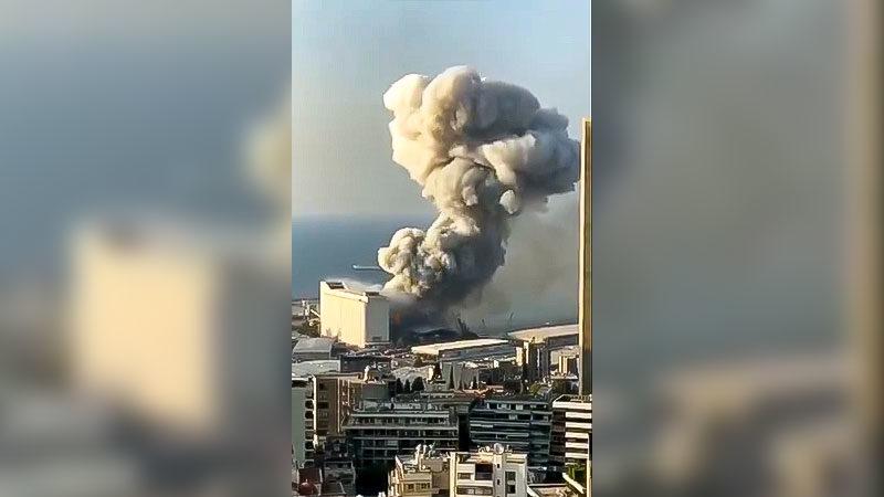 Beirut, Libanon, Explosion, Bombe, Krieg, Rauchwolke