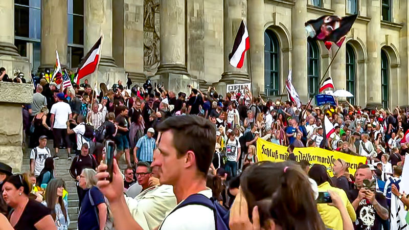 Demonstration, Corona, Reichstag, Berlin, Bundestag, Reichsbürger, Rechtsextremisten