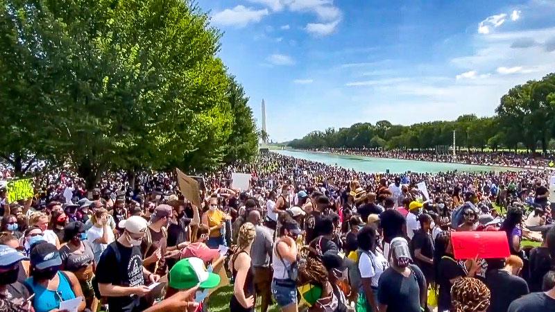 Rassismus, Demonstration, USA, Washington, Polizeigewalt