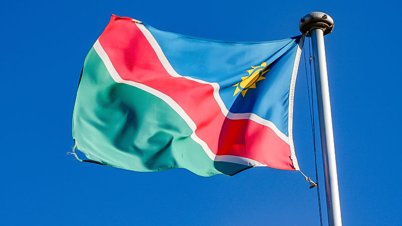 Namibia, Flagge, Fahne, Land, Fahnenmast, Afrika