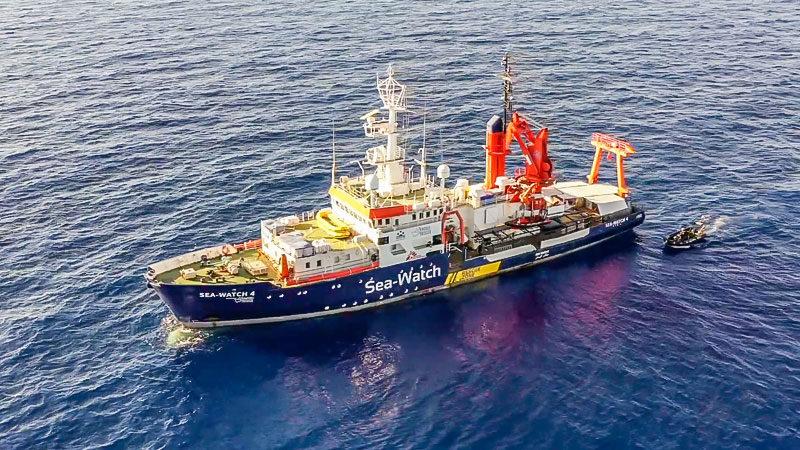 Sea Watch, 4, Seenotrettung, Flüchtlinge, Mittelmeer, Schiff, Boot
