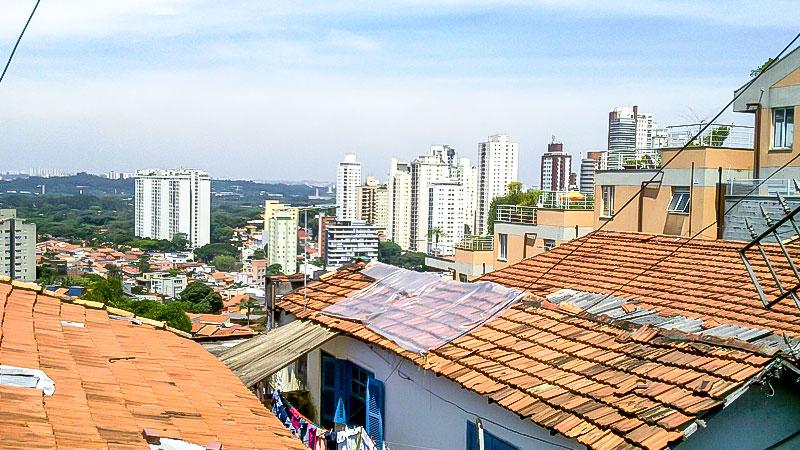 Brasilien, Stadt, Armut, Sao Paolo, Häuser, Haus, Dach