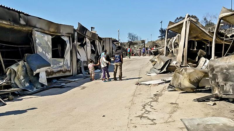 Flüchtlingslager, Moria, Flüchtlingscamp, Griechenland, Brand, Flüchtlingspolitik