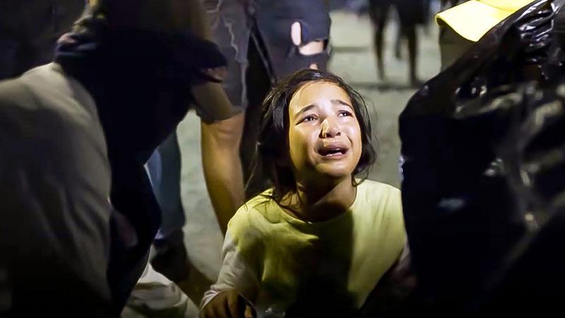 Flüchtlinge, Kind, Flüchtlingslager, Weinen, Menschenrechte, Griechenland