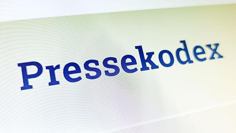Pressekodex, Presserat, Presse, Medien, Journalismus