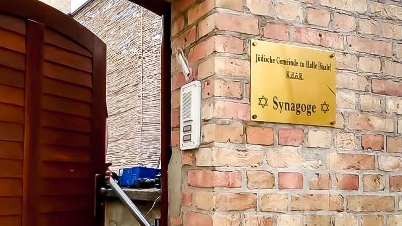 Synagoge, Halle, Tür, Juden, Jüdisch, Religion, Rechtsterrorismus, Rechtsextremismus