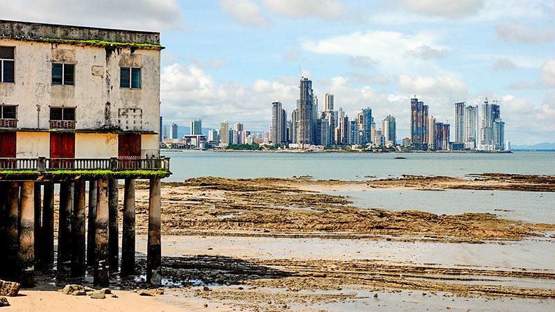 Panama, Armut, Reichtum, Arm, Reich, Wolkenkratzer, Haus