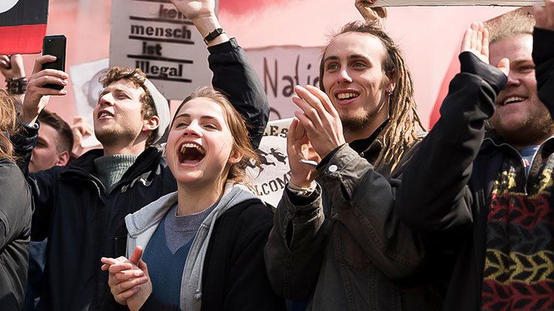 Film, Kino, Nazis, Demonstration, Antifa