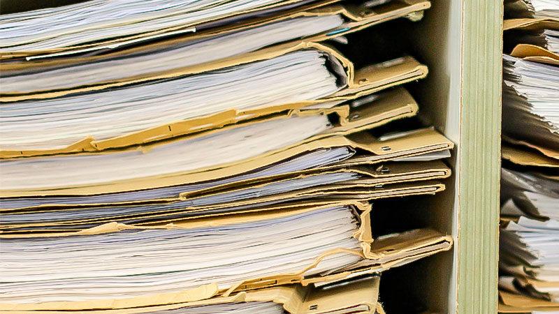 Akten, Ordner, Ermittlung, Dossier, Papier, Regal