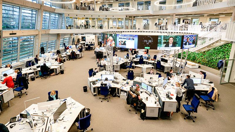 Newsroom, ARD, Redaktion, Journalismus, Fernsehen, Tagesschau