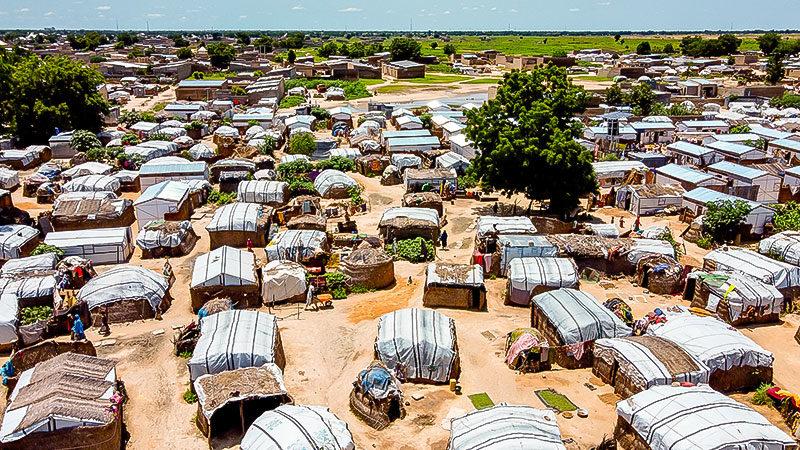 Flüchtlingslager, Nigeria, Armut, Hunger, Flüchtlinge, Afrika