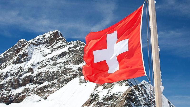 Schweiz, Flagge, Berge, Schweizer Berge, Alm, Fahne