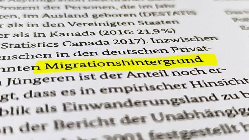"""Begriff """"Migrationshintergrund"""" nicht mehr verwenden"""