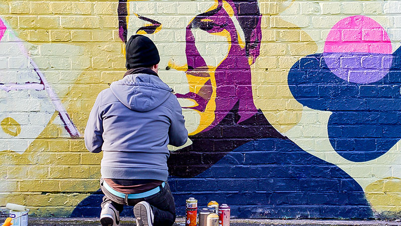 Mr. Spock, Raumschiff Enterprise, Flucht, Ukraine, Graffiti, Wand
