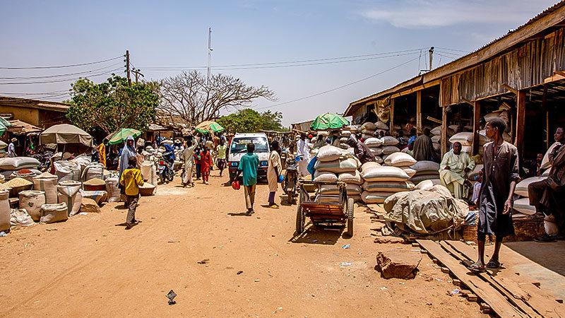 Markt, Nigeria, Armut, Afrika, Hunger, Straße