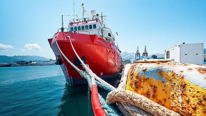 Rettungsschiff, Sea Eye, Mittelmeer, Hafen, Meer