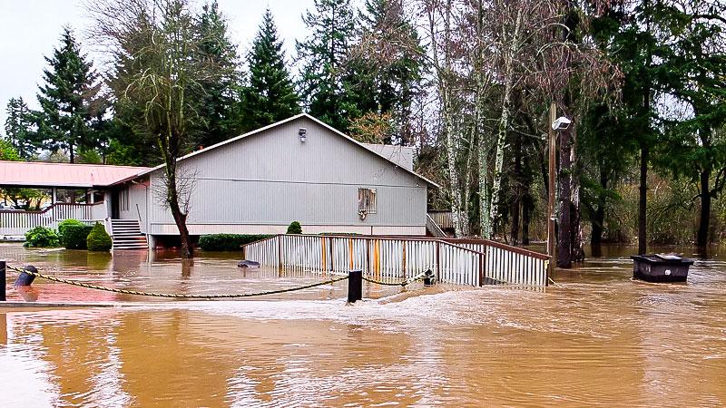 Überschwemmung, Klimawandel, Wasser, Regen, Naturkatastrophe