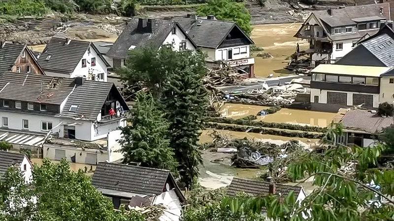 Hochwasser, Rheinland-Pfalz, Klimawandel, Starkregen, Flut, Wasser, Überschwemmung
