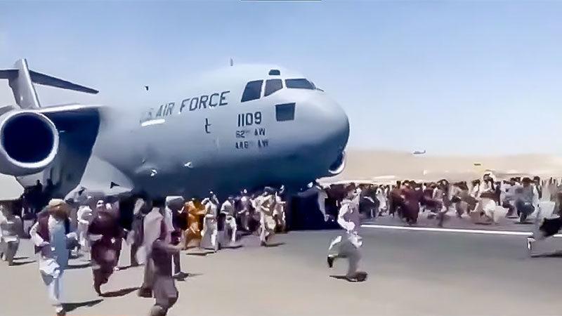 Flugzeug, Afghanistan, Flucht, Taliban, Menschen