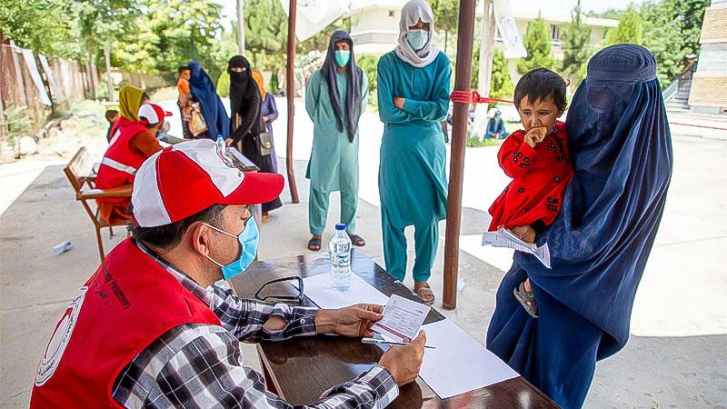 Afghanistan, Halbmond, Hilfe, Frauen, Armut