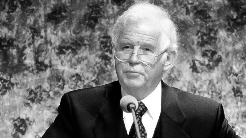 Kurt Biedenkopf, Sachsen, Ministerpräsident, Rede, Pult