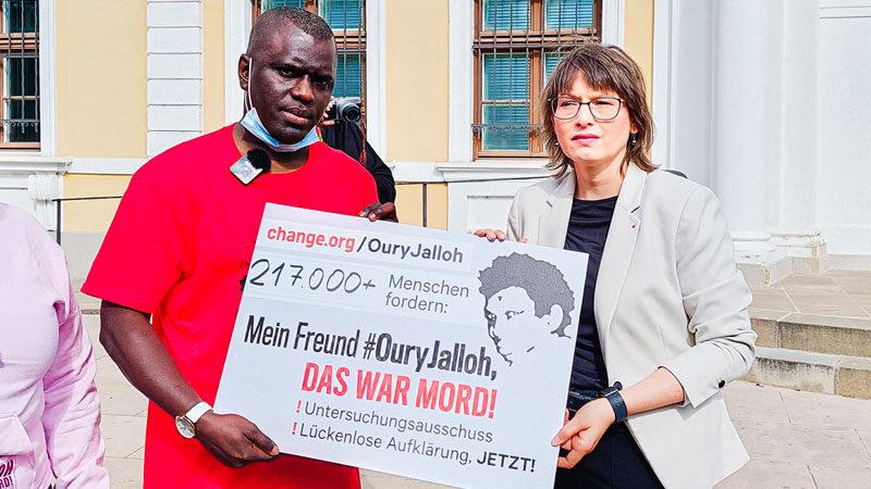 Oury Jalloh, Magedburg, Landtag, Katja Pähle, Petition