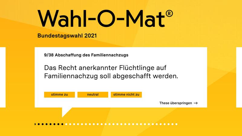 Wahl-O-Mat, bpb, Bundestagswahl 2021, Wahlhilfe
