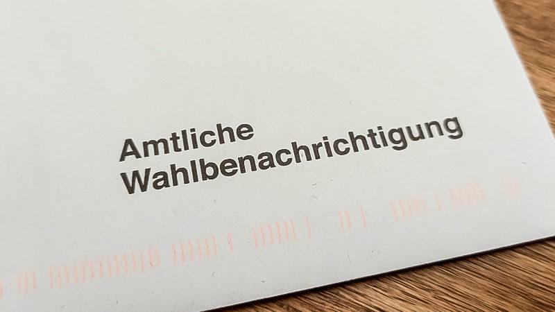 Amtliche Wahlbenachrichtigung, Brief, Bundestagswahl, Landtagswahl