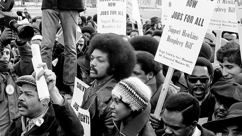 Jesse Jackson, Demonstration, USA, Rassismus, Weißes Haus